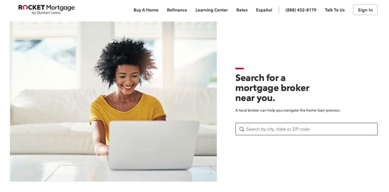 Rocket Mortgage national mortgage broker directory