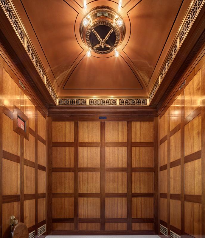 Hudson's department store elevator