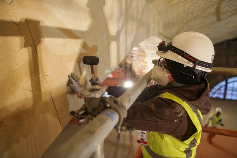 EverGreene Architectural Arts plaster worker
