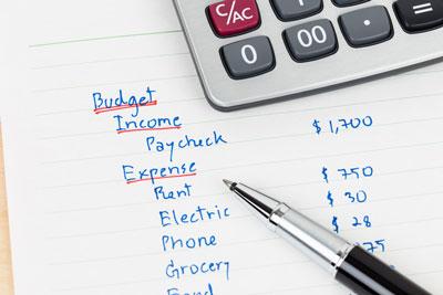 personal finances budget