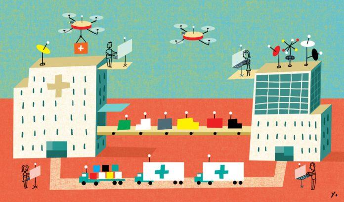 future hospital illustration