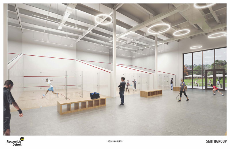 Racquet Up Detroit facility rendering