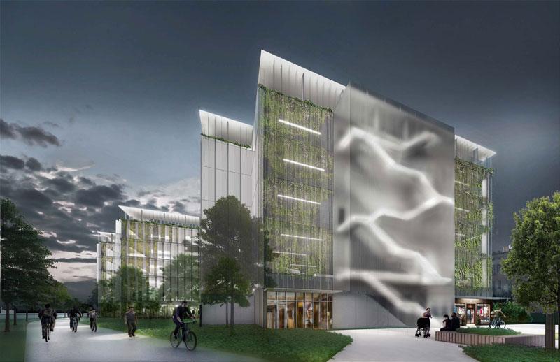 Bagley Parking Hub rendering