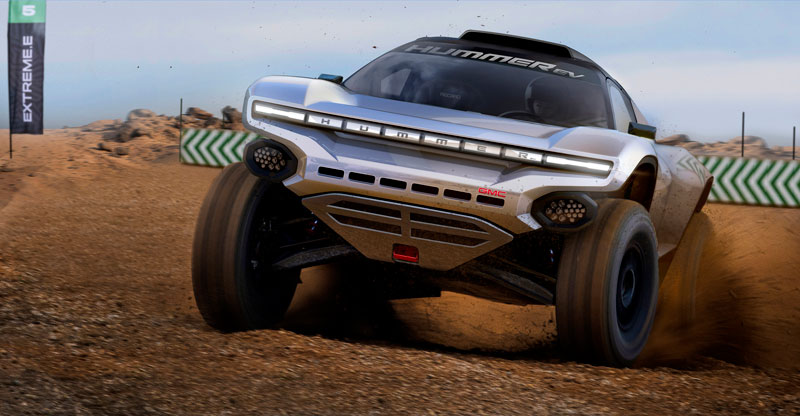 GMC Hummer inspired racecar