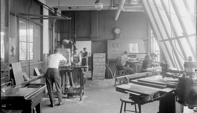 Detroit Photo Engraving Co. workshop