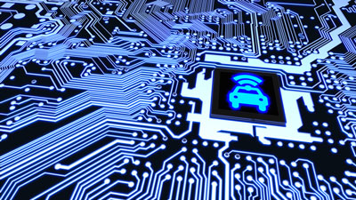 vehicle cybersecurity stock image
