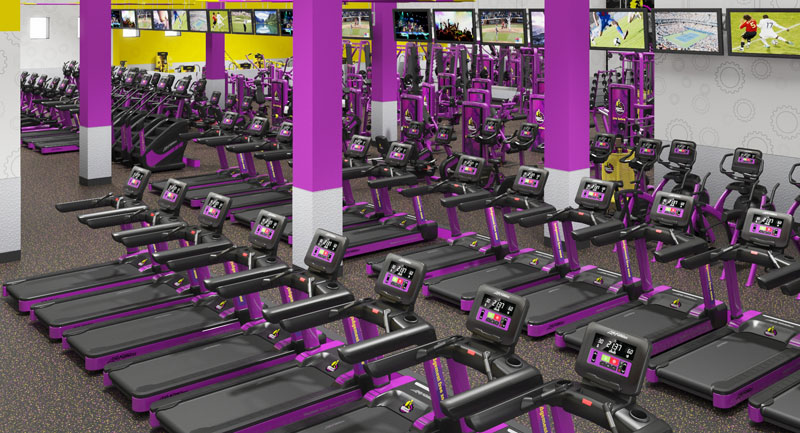 Planet Fitness location in the Detroit Pistons Performance Center