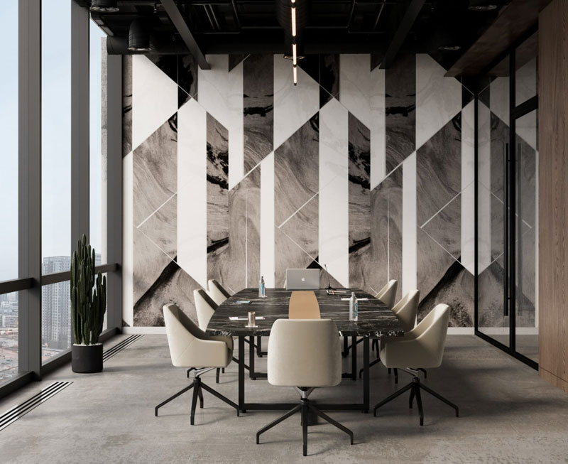 Louis QuietPrint acoustic panels in meeting room