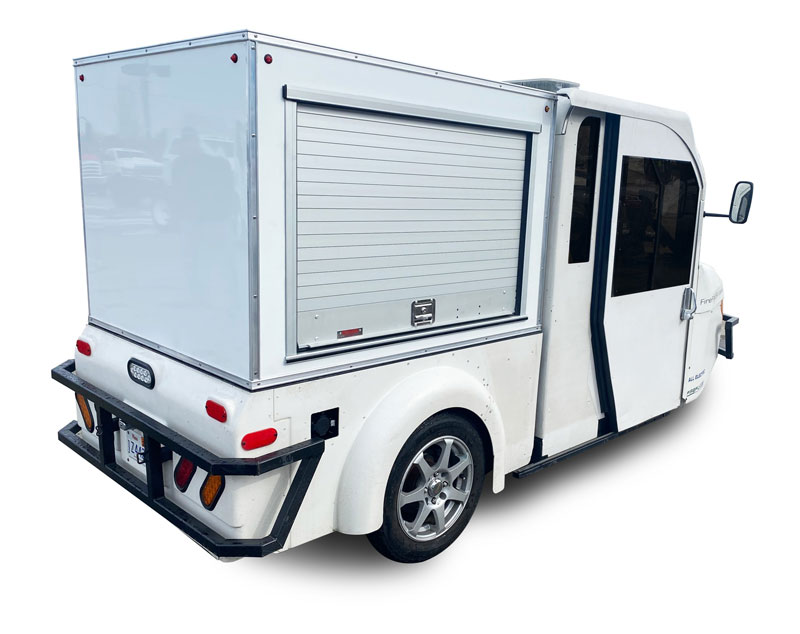 body upfit on EV Transportation Services' FireFly vehicle