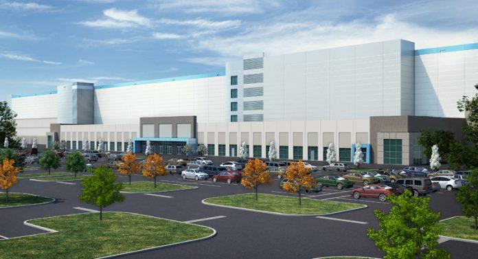Amazon Detroit Fulfillment Center rendering