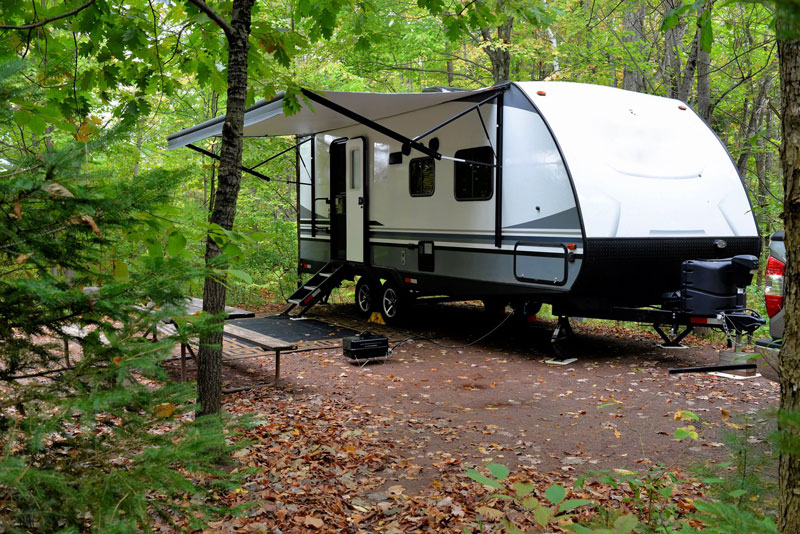 trailer from Camping World Holdings Inc. is expanding in Michigan through the acquisition of Hilltop RV Superstore in the Upper Peninsula. // Photo courtesy of Hilltop RV Superstore