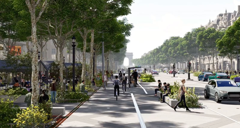 Champs-Élysées rendering