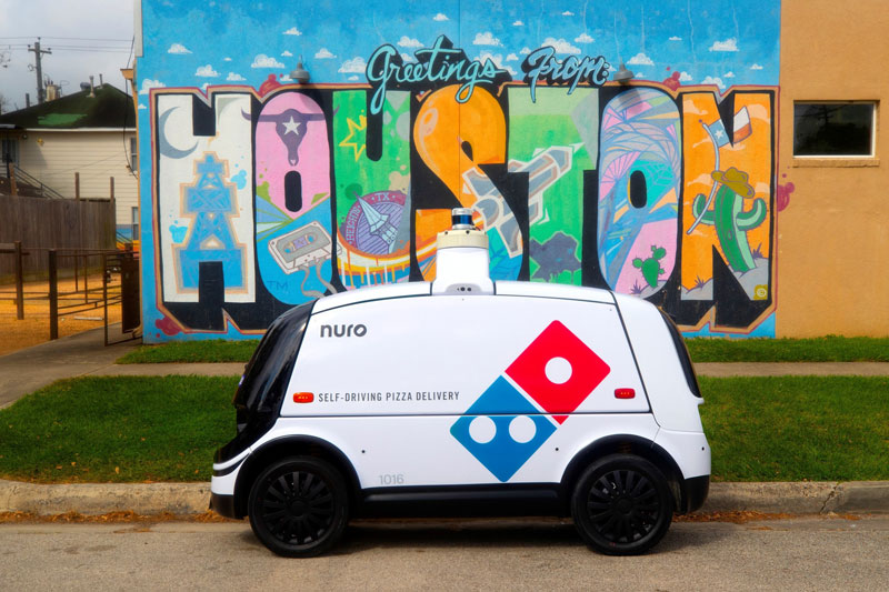 Domino's and Nuro's pizza delivery robot