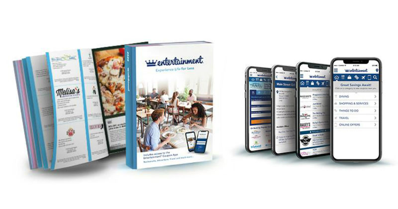 digital and print Entertainment coupon books