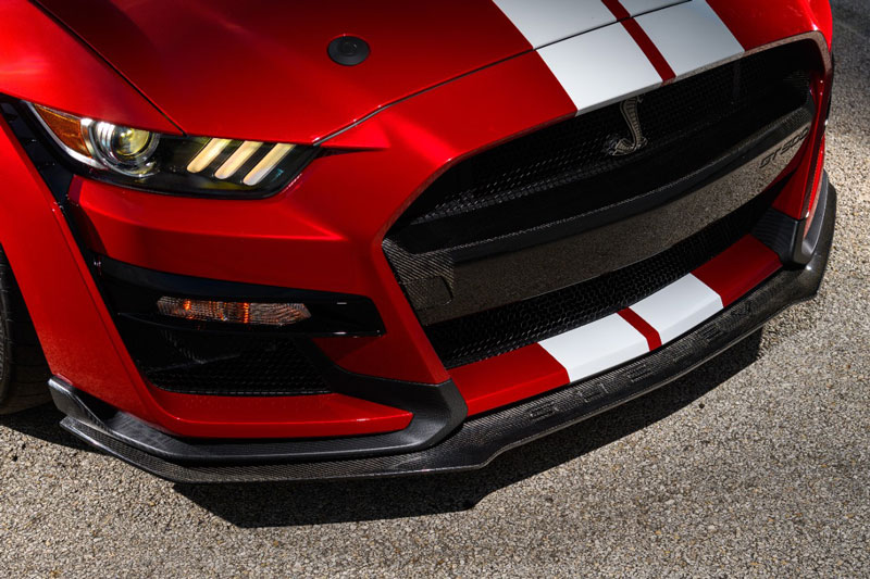 Ford Mustang Shelby GT500 with aftermarket parts