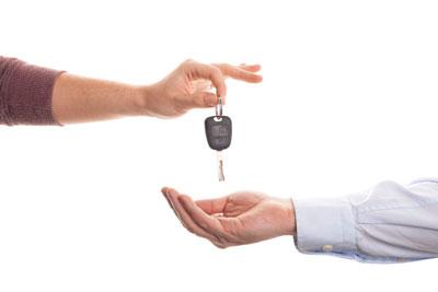 handing off car keys