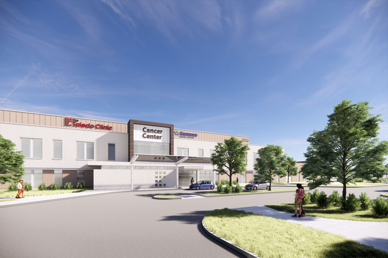 rendering of cancer center created by Karmanos and The Toledo Clinic