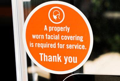 face mask mandatory stock photo