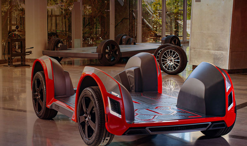 REE Automotive's electric vehicle chassis