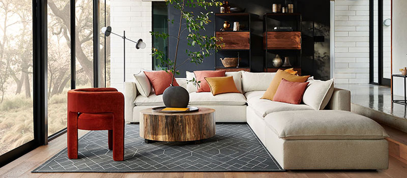 Crate And Barrel To Open Twelve Oaks, Crate And Barrel Living Rooms