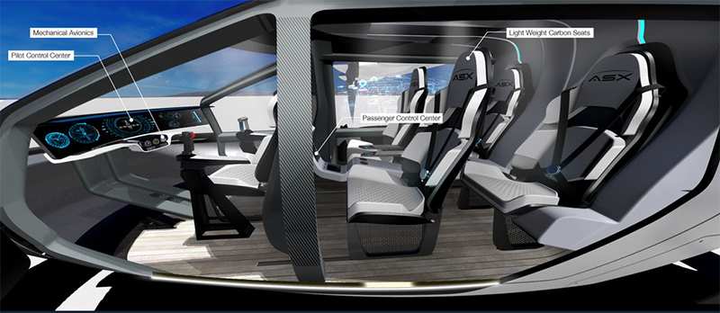 interior rendering of air taxi