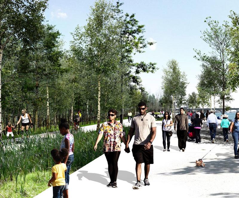 Detroit Riverfront Conservancy Starts Work on Final Link of the Riverwalk
