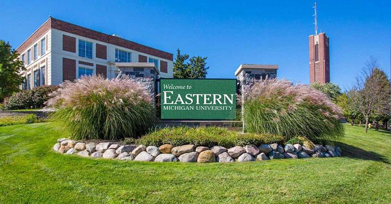Eastern Michigan University sign