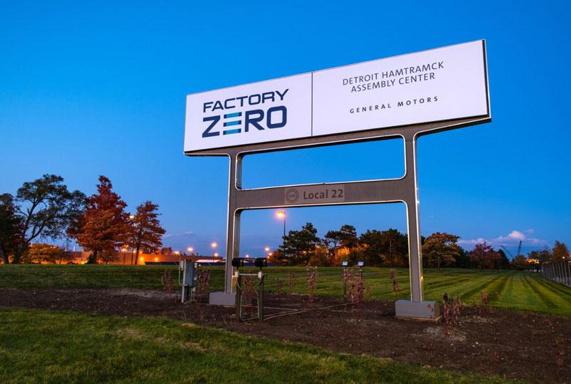 GM Factory Zero sign