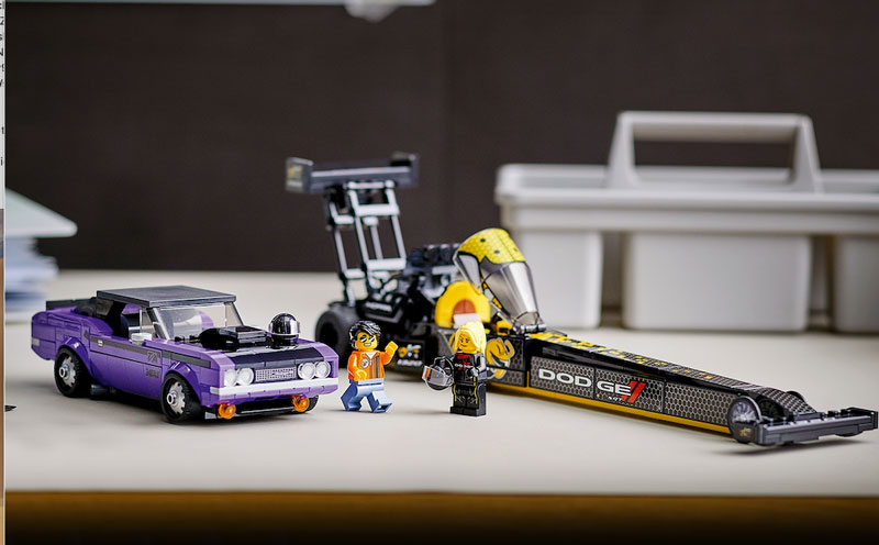 Dodge LEGO Challenger and SRT sets