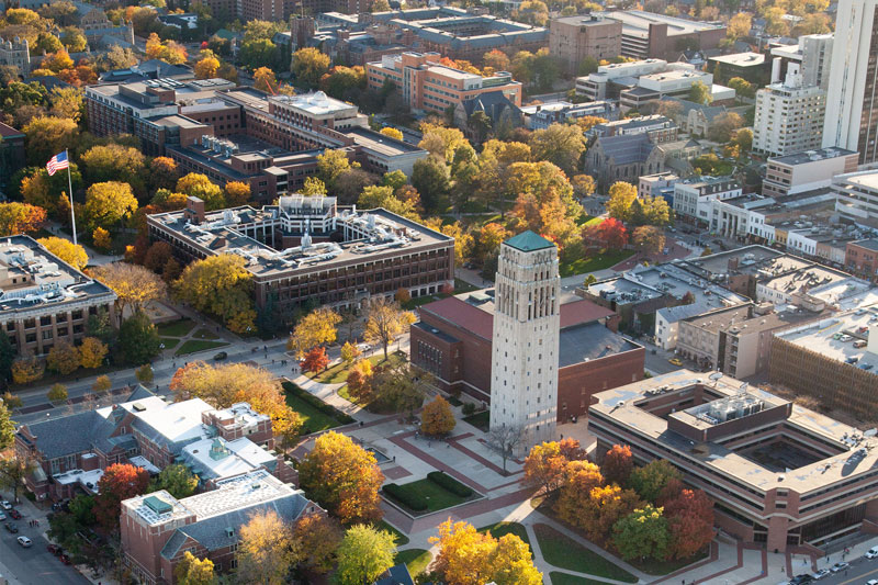 University of Michigan from above