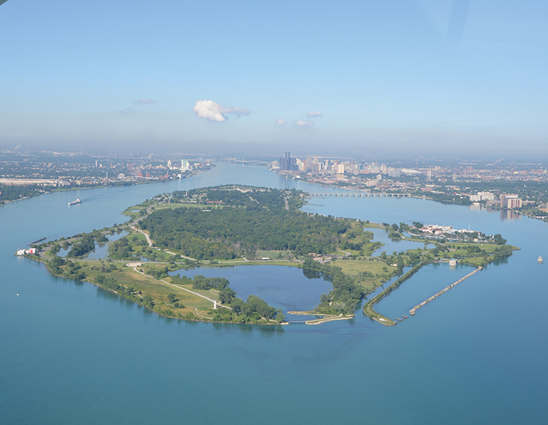 Belle Isle is home to globally rare wetlands that the Michigan DNR is working to restore. // File Photo