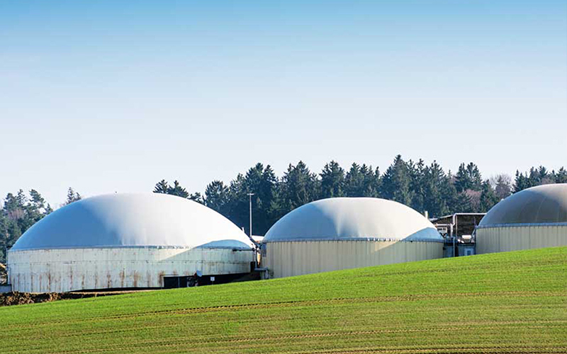 Three anaerobic digestion system projects in Michigan used to convert manure to to renewable natural gas have been started by Brightmark. // Courtesy of Brightmark