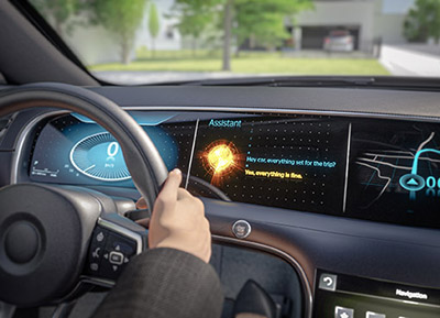Alexa Voice Assistant in an automobile