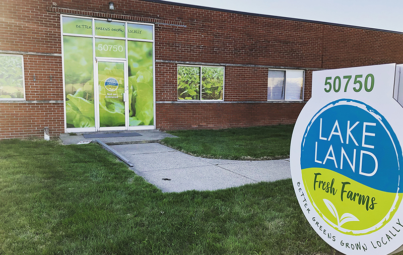 The front of Lakeland Fresh Farms new 80,000 square-foot growing facility.