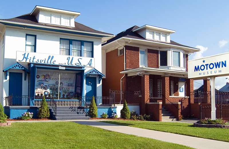 hitsville usa and Motown museum from the curb