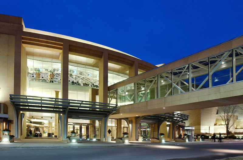The skywalk over Big Beaver at the Somerset Collection.
