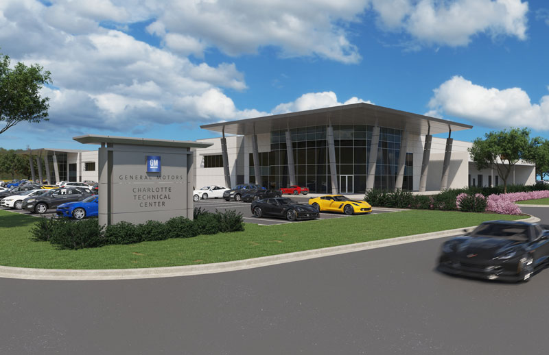 Rendering of new GM tech center in concord, N.C.