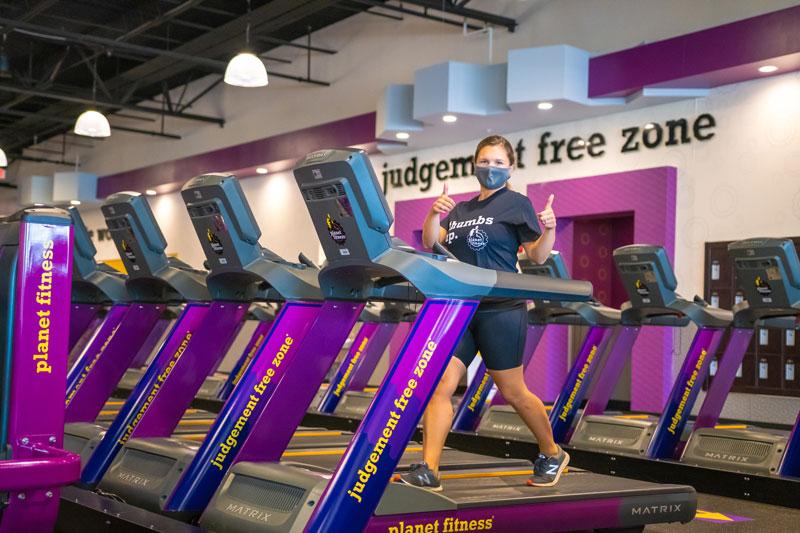 Runner on planet fitness treadmill
