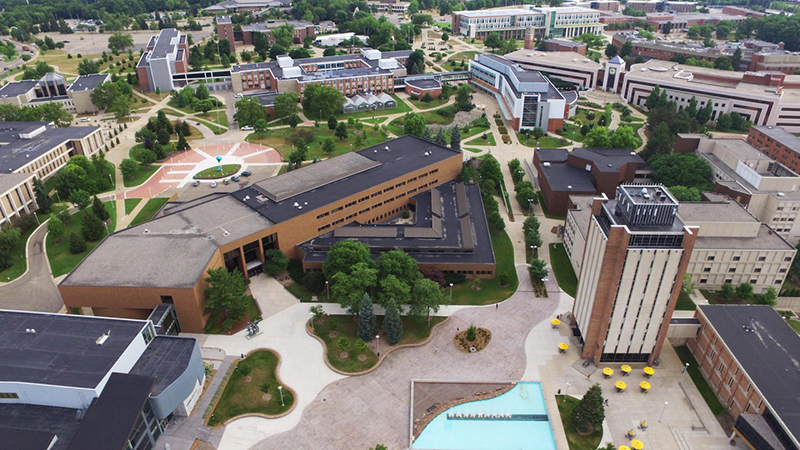 Overhead of WMU campus