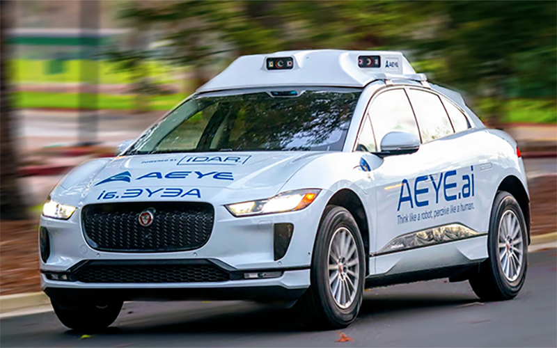 AEye, a high performance LiDAR solutions company, successfully tested its system from 1,000 meters in rain from behind windshield glass at the American Center for Mobility in Ypsilanti Township. // Courtesy of AEye