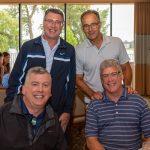 Seated: Bill Girardot, Mike Gates; Standing: Tim Gates, Ran Jessup