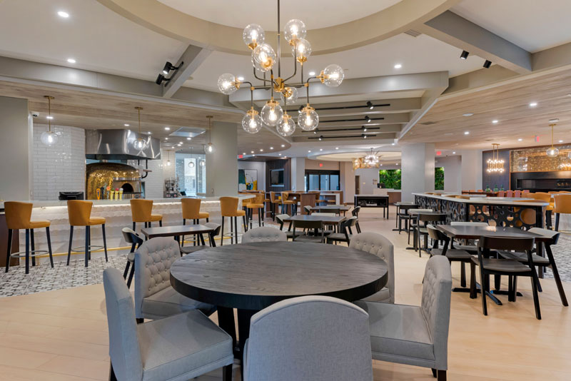 The lobby of the new Cambria Hotel Shelby Township-Detroit. // Photo courtesy of Cambria Hotel