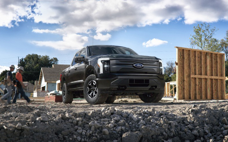 The Ford F-150 Lightning Pro, part of the company's future plans for vehicle electrification, just part of its strong second quarter. // Courtesy of Ford