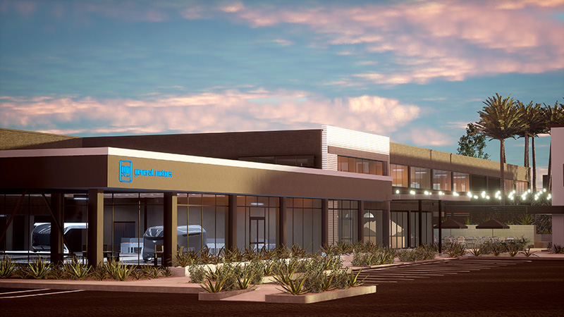 A rendering of the new GM Advanced Design Center in Pasadena, Calif. // Courtesy of GM