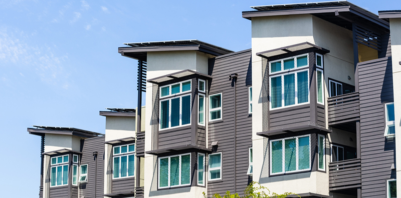 Stock photo of a multi-family home unit