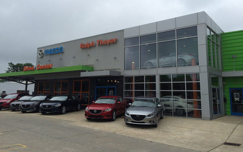 The addition of Ralph Thayer Automotive, including this Mazda store in Livonia, gives LaFontaine Automotive Group 25 Michigan retail locations. // Courtesy of Ralph Thayer Automotive