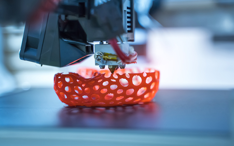 Materialise Manufacuring, with U.S. operation based in Plymouth, have introduced Bluesint PA 12, a service that allows sintering waste to be recovered and print new parts. // Stock Photo