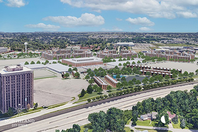A rendering of the completed Northland Mall redevelopment project, one of many to receive funding from the Michigan Strategic Fund. // Courtesy of Contour Companies