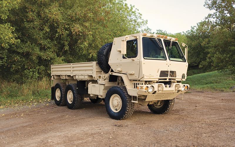An Oshkosh Defense Medium Tactical Vehicle. The company will produce Optionally Manned Fighting Vehicle for the U.S. Army Contracting Command Detroit Arsenal. // Courtesy of Oshkosh Defense