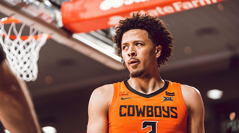 Cade Cunningham, selected by the Detroit Pistons with the number 1 overall pick in the NBA Draft. // Courtesy of Oklahoma State University Athletics